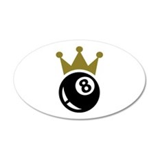 Eight ball billiards crown Wall Decal
