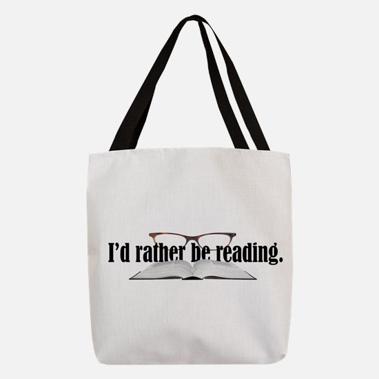 Rather Read Polyester Tote Bag