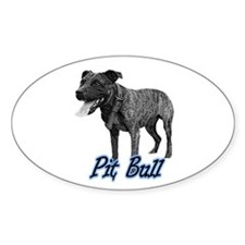 Brindle Bully Oval Decal