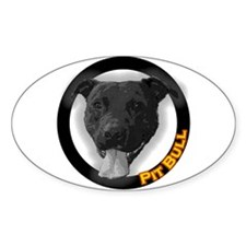 """""""Pit Bull"""" Oval Decal"""