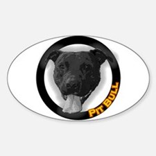 """Pit Bull"" Oval Decal"