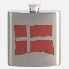 Denmark Flag Flask