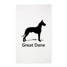 Great Dane Silhouette 3'x5' Area Rug