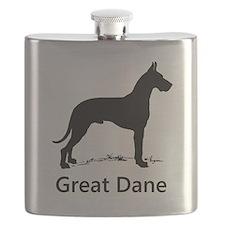 Great Dane Silhouette Flask