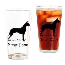 Great Dane Silhouette Drinking Glass