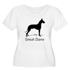 Great Dane Silhouette Plus Size T-Shirt
