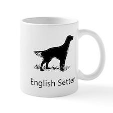 English Setter Silhouette Mugs