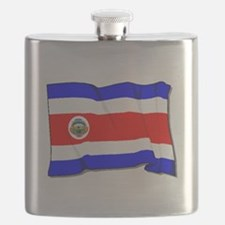 Costa Rica Flag Flask