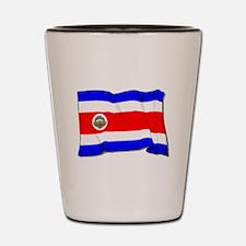Costa Rica Flag Shot Glass
