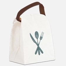 Dinner Utensils Canvas Lunch Bag
