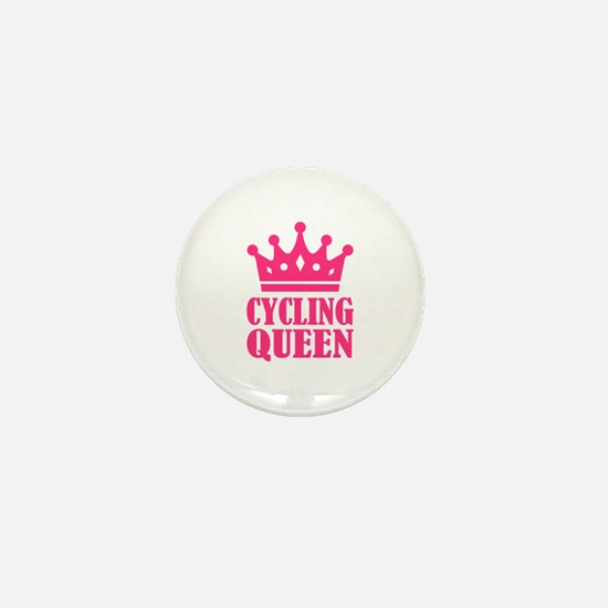 Cycling queen champion Mini Button