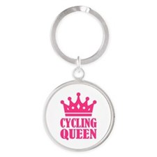 Cycling queen champion Round Keychain