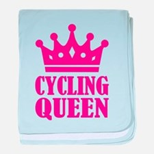 Cycling queen champion baby blanket
