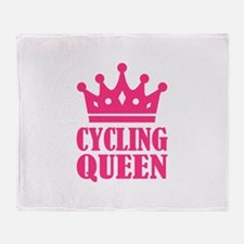 Cycling queen champion Throw Blanket