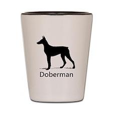 Doberman Silhouette Shot Glass