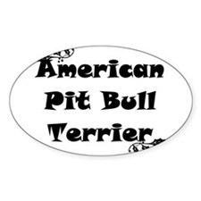 APBT Oval Decal