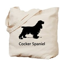 Cocker Spaniel Silhouette Tote Bag