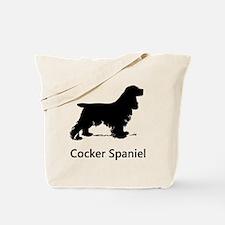 Cocker Spaniel Silhouette Tote Bag