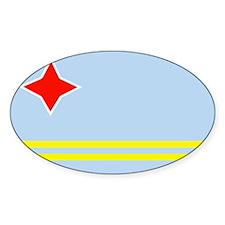 Aruban Flag Oval Decal