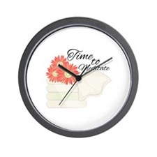 Time To Meditate Wall Clock