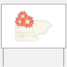 Floral Towels Yard Sign