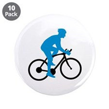 "Bicycle Cycling 3.5"" Button (10 pack)"