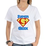Super Geek Women's V-Neck T-Shirt