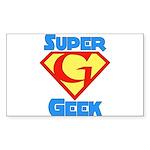 Super Geek Rectangle Sticker