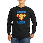 Super Geek Long Sleeve Dark T-Shirt