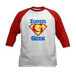 Super Geek Kids Baseball Jersey
