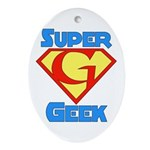Super Geek Oval Ornament