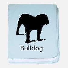 Bulldog Silhouette baby blanket