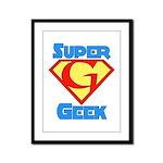 Super Geek Framed Panel Print