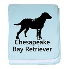 Chesapeake Bay Retriever Silhouette baby blanket