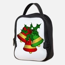 Christmas Bells and Holly Neoprene Lunch Bag