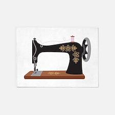 Sewing Machine 1 5'x7'Area Rug