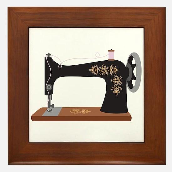 Sewing Machine 1 Framed Tile