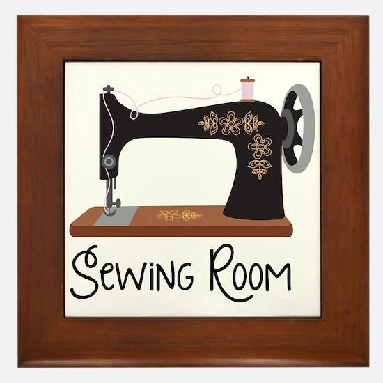 Sewing Room Framed Tile