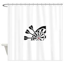 Darts dartboard Shower Curtain