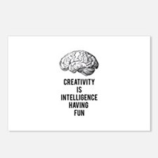 creativity is intelligence having fun Postcards (P