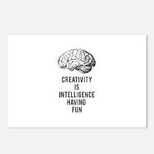 creativity is intelligence having fun Postcards (P