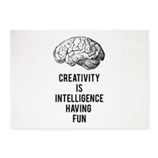 creativity is intelligence having fun 5'x7'Area Ru