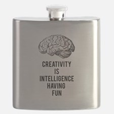 creativity is intelligence having fun Flask