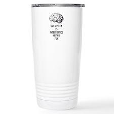 creativity is intelligence having fun Travel Mug