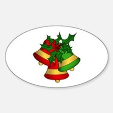 Christmas Bells and Holly Decal