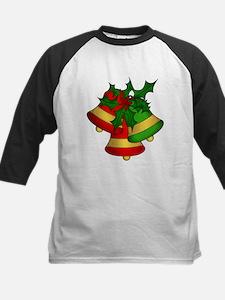 Christmas Bells and Holly Baseball Jersey