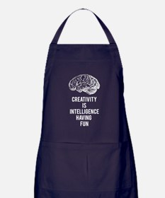 creativity is intelligence having fun Apron (dark)