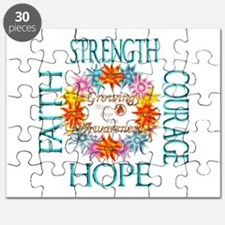Faith Strength Courage CRPS RSD Awareness W Puzzle