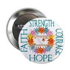 "Faith Strength Courage CRPS RSD Aware 2.25"" Button"