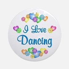 I Love Dancing Ornament (Round)